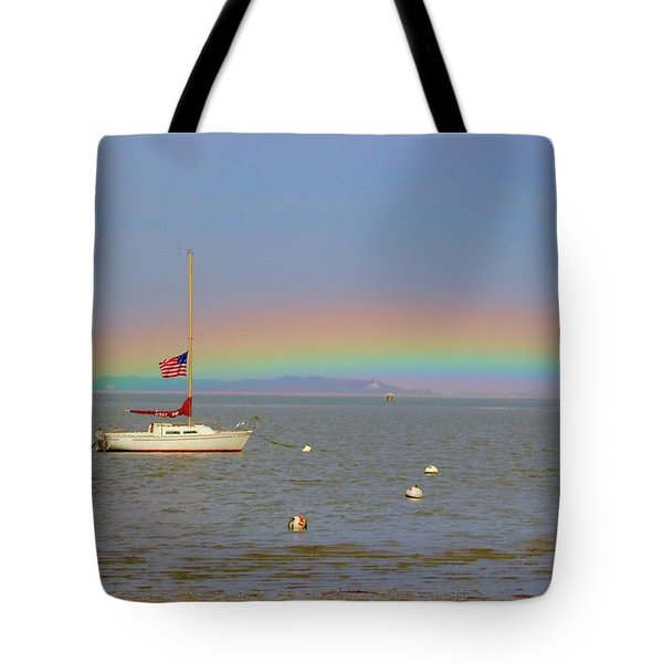 Tote Bag featuring the photograph Rainbow by Amazing Jules