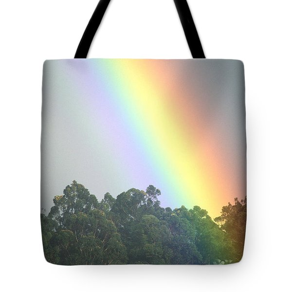 Rainbow And Misty Skies Tote Bag by Erik Aeder - Printscapes