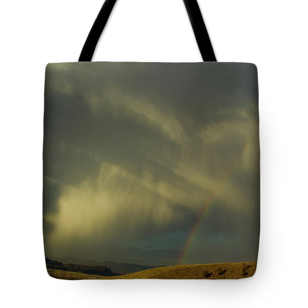 Rainbow And White Light-signed-#9456 Tote Bag