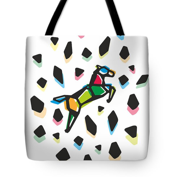 Rainbow Anigami Horse Tote Bag