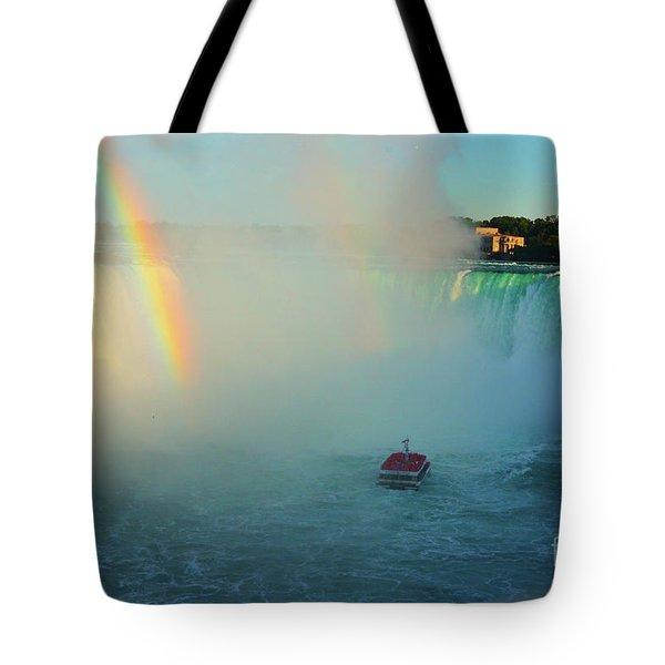 Rainbow At Horseshoe Falls Tote Bag
