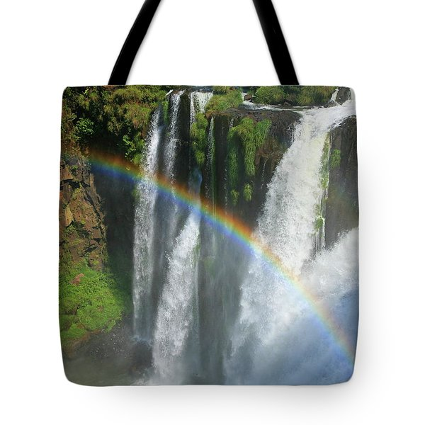 Rainbow At Iguazu Falls Tote Bag