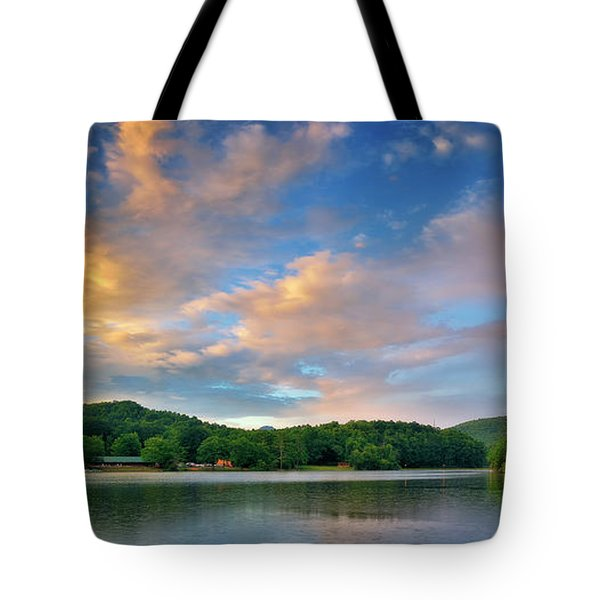 Rainbow At Linville Land Harbor Tote Bag