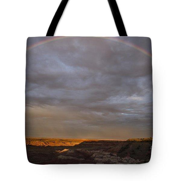 Rainbow At Sunset Tote Bag