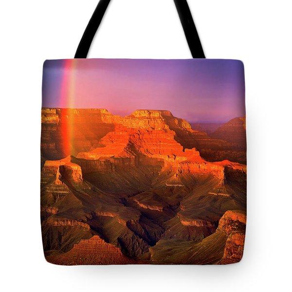 Rainbow At The Grand Canyon Tote Bag