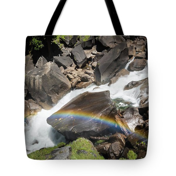 Tote Bag featuring the photograph Rainbow At Vernal Falls- by JD Mims