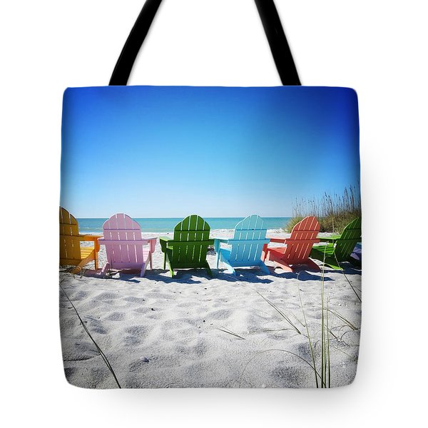 Rainbow Beach Vanilla Pop Tote Bag