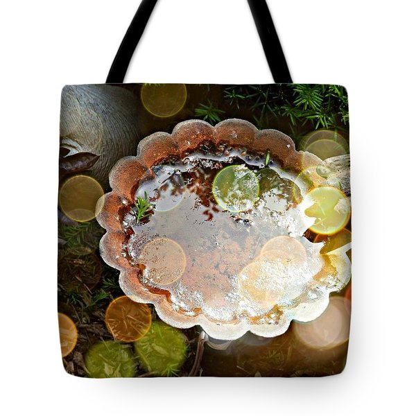 Rainbow Birdbath Tote Bag