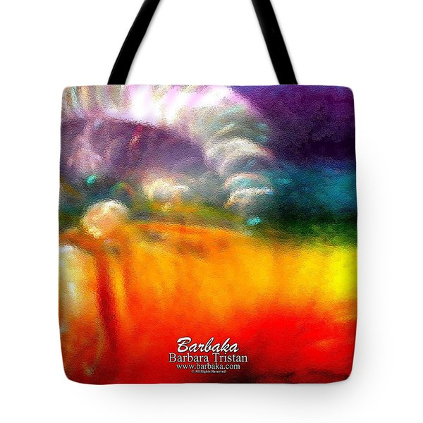 Tote Bag featuring the photograph Rainbow Bliss #052833_ii by Barbara Tristan