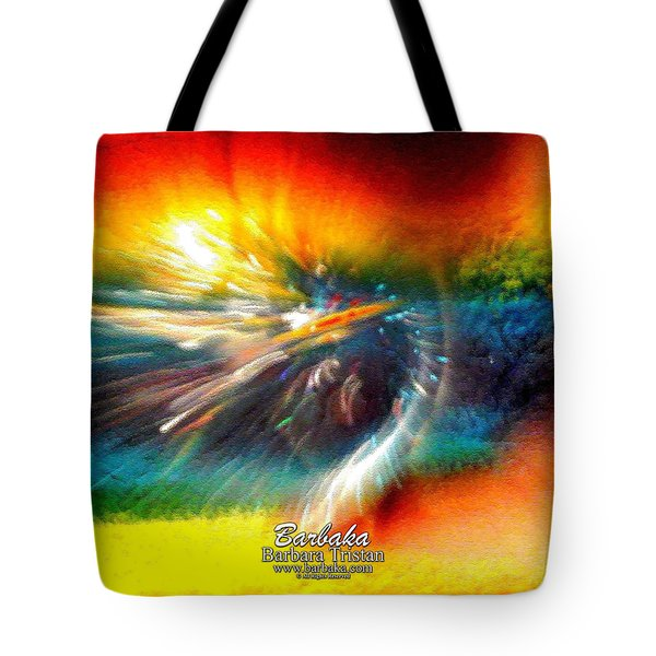 Tote Bag featuring the photograph Rainbow Bliss #053329 by Barbara Tristan
