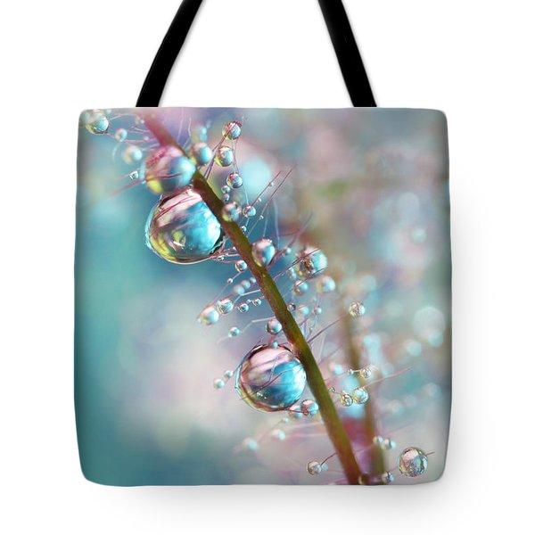 Rainbow Blue Smokey Drops Tote Bag