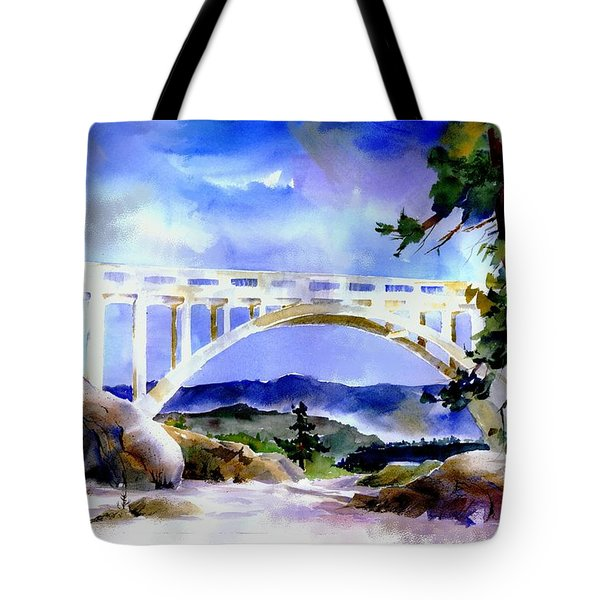 Rainbow Bridge Above Donnerlk#2 Tote Bag