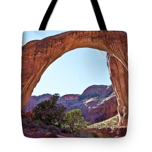 Rainbow Bridge Tote Bag by Kathy McClure