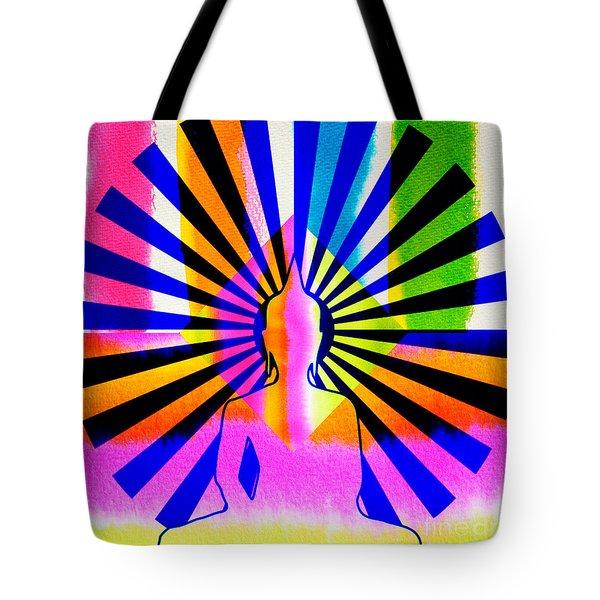 Rainbow Buddha Tote Bag