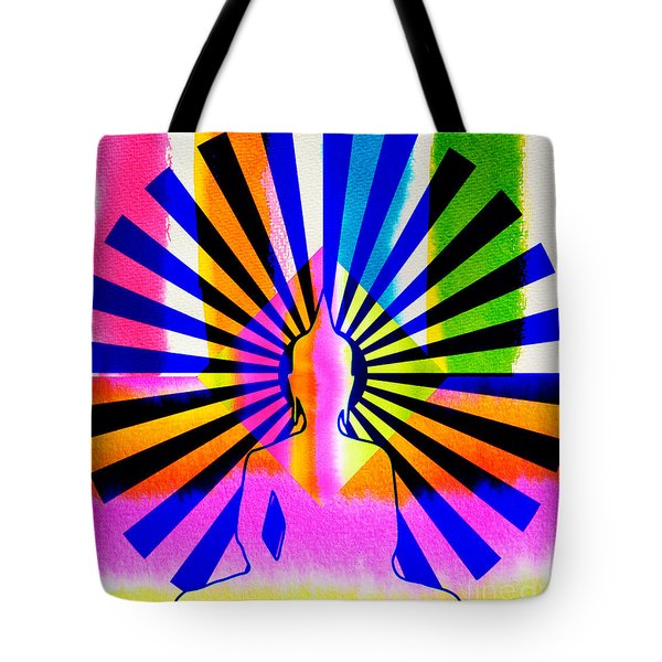 Rainbow Buddha Tote Bag