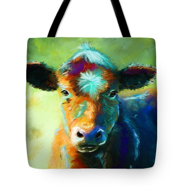Rainbow Calf Tote Bag