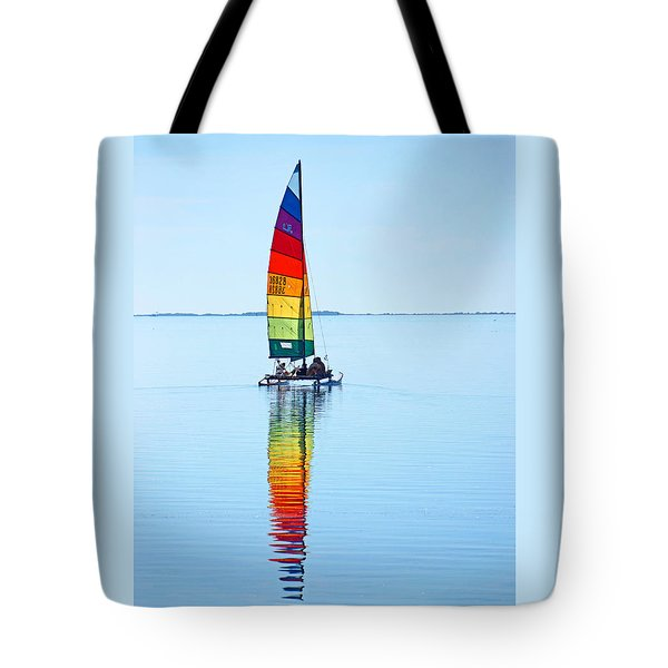 Rainbow Catamaran Tote Bag
