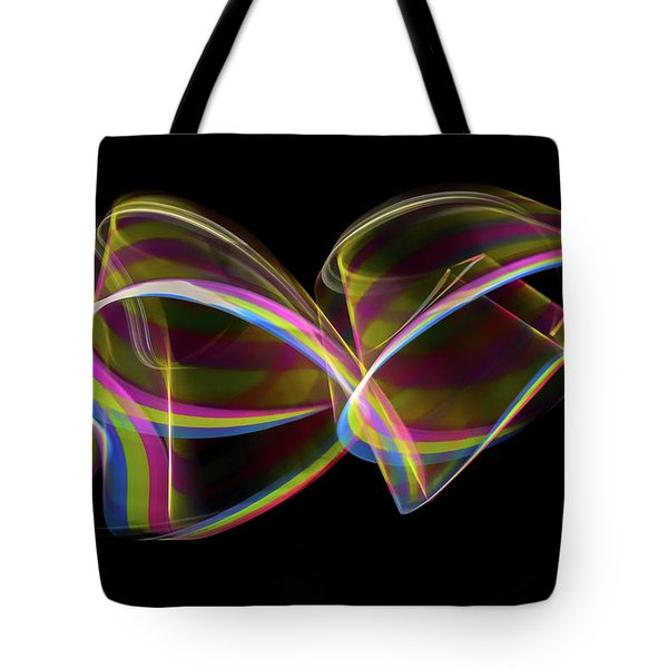 Rainbow Chain Abstract Tote Bag