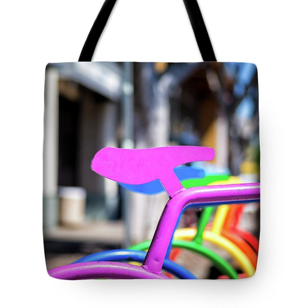 Rainbow City Tote Bag