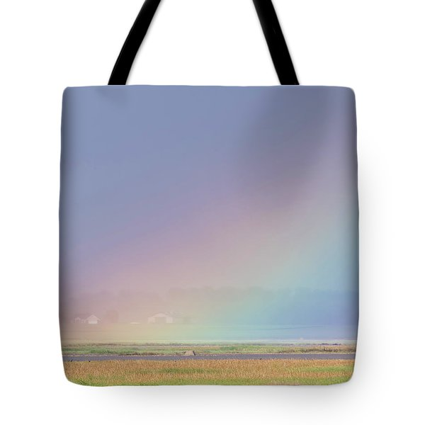 Tote Bag featuring the photograph Rainbow Close Up by Rob Graham