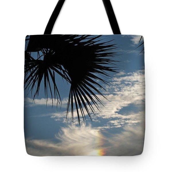 Rainbow Cloud Tote Bag by Peg Urban