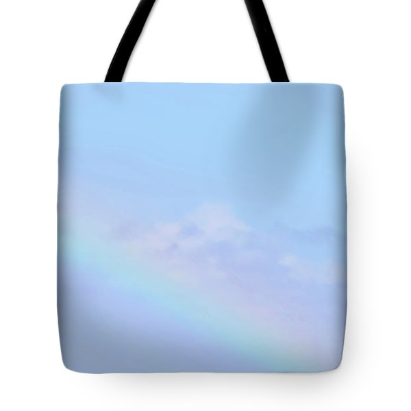 Tote Bag featuring the digital art Rainbow Clouds And Sky by Francesca Mackenney