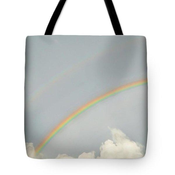 Rainbow Clouds Tote Bag
