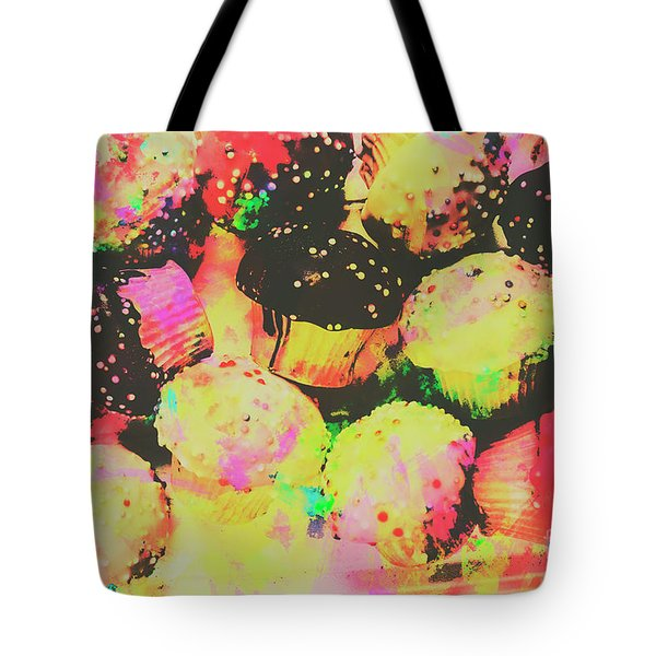 Rainbow Color Cupcakes Tote Bag