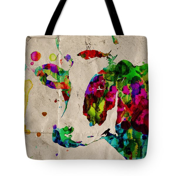 Rainbow Cow Print Poster Tote Bag