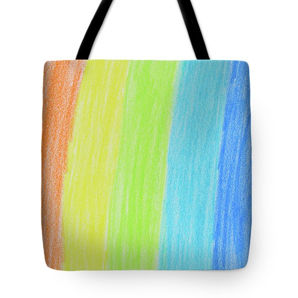 Rainbow Crayon Drawing Tote Bag by GoodMood Art