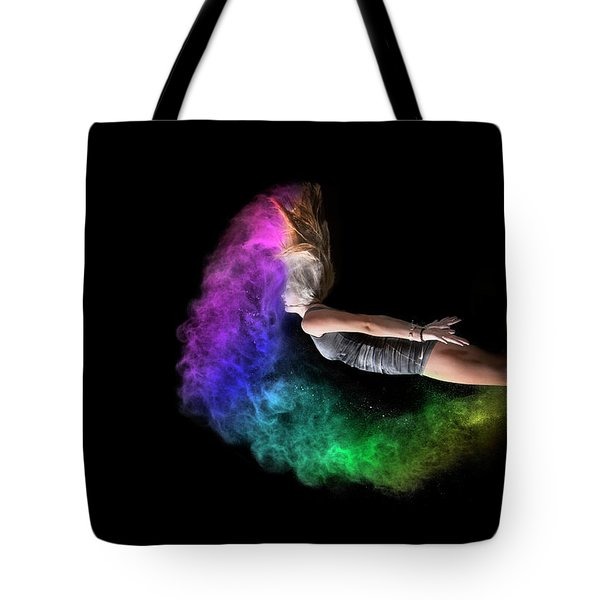 Rainbow Crescent Tote Bag