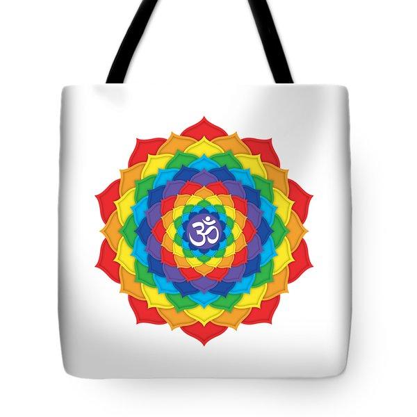 Rainbow - Crown Chakra  Tote Bag by David Weingaertner