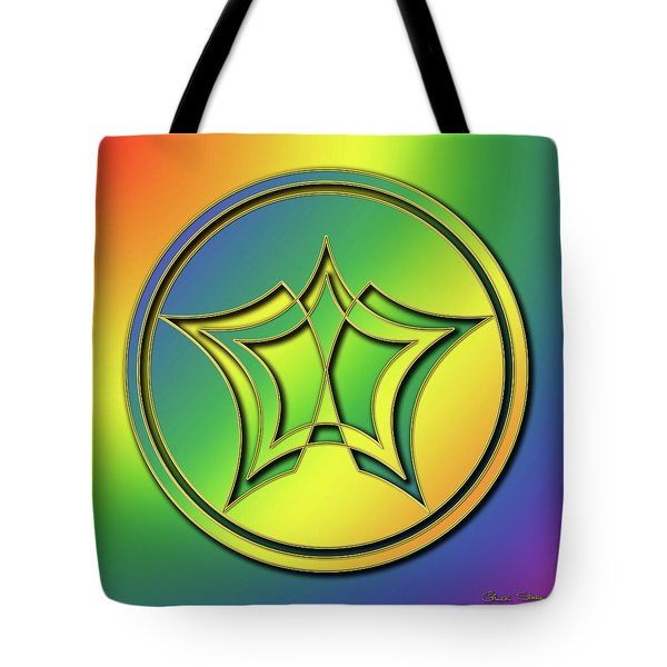 Tote Bag featuring the digital art Rainbow Design 1 by Chuck Staley