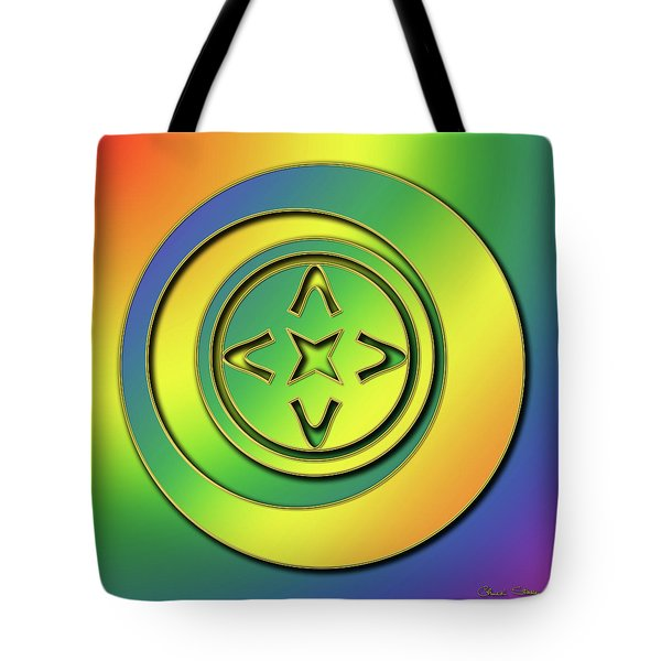 Tote Bag featuring the digital art Rainbow Design 2 by Chuck Staley