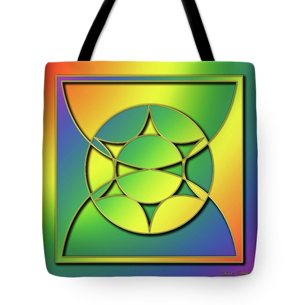 Tote Bag featuring the digital art Rainbow Design 3 by Chuck Staley