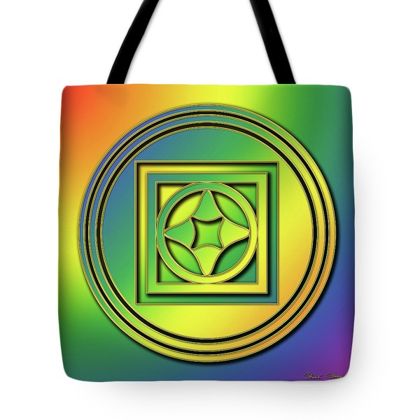 Tote Bag featuring the digital art Rainbow Design 4 by Chuck Staley