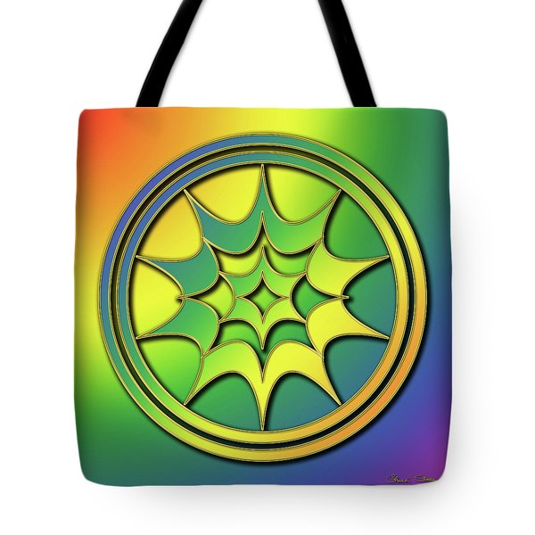 Tote Bag featuring the digital art Rainbow Design 5 by Chuck Staley
