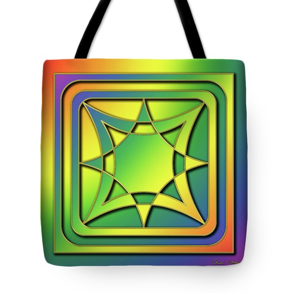 Tote Bag featuring the digital art Rainbow Design 6 by Chuck Staley