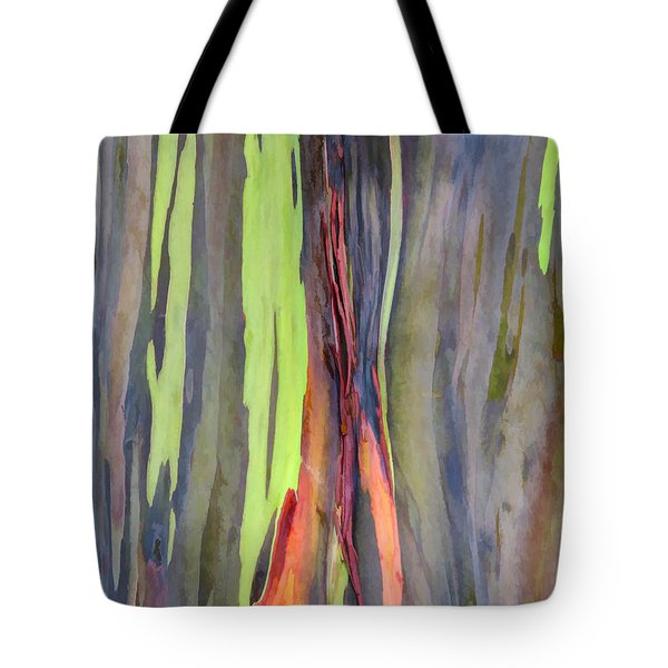 Rainbow Eucalyptus 13 Tote Bag by Dawn Eshelman
