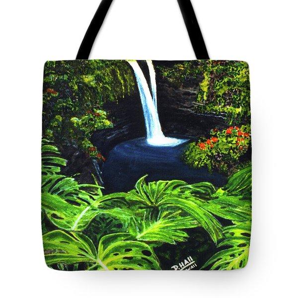 Rainbow Falls #83 Tote Bag by Donald k Hall