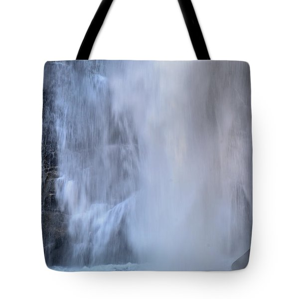 Rainbow Falls In Gorges State Park Nc Tote Bag by Bruce Gourley