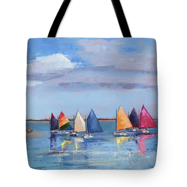 Rainbow Fleet Parade At Brant Point Tote Bag