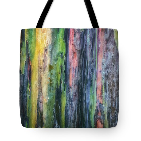 Tote Bag featuring the photograph Rainbow Forest by Ryan Manuel