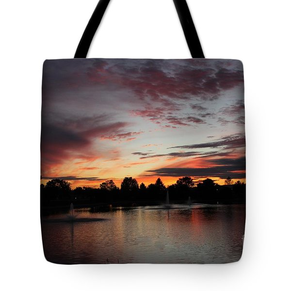 Rainbow Foutain Tote Bag