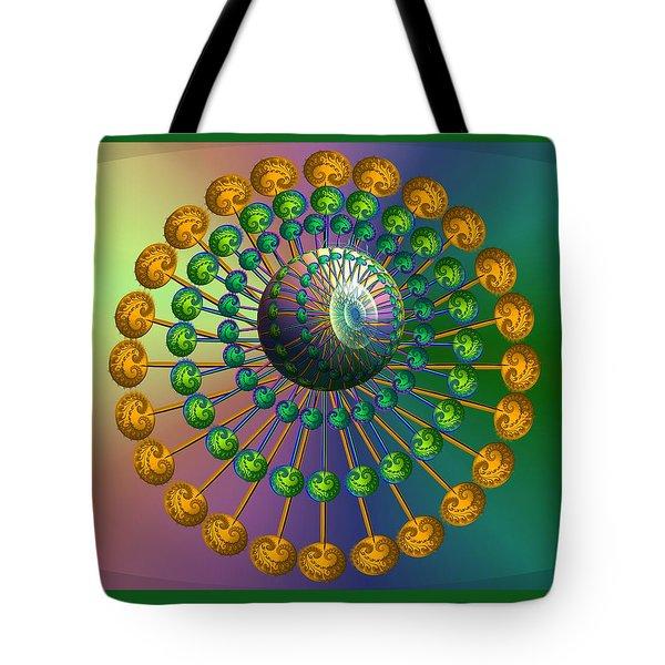 Rainbow Fractal Tote Bag