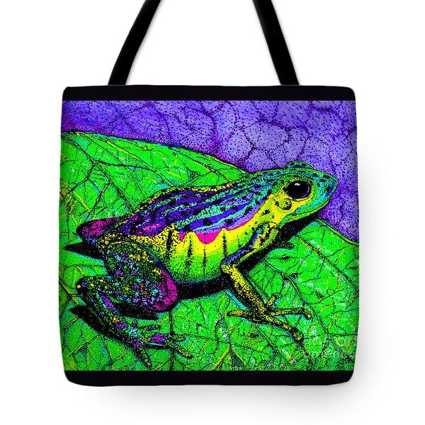 Rainbow Frog 2 Tote Bag by Nick Gustafson