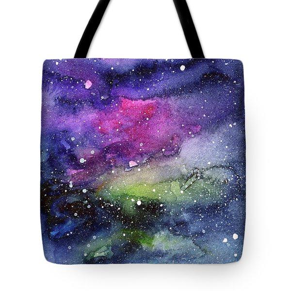 Rainbow Galaxy Watercolor Tote Bag