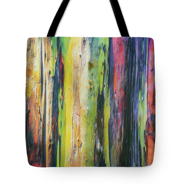 Tote Bag featuring the photograph Rainbow Grove by Ryan Manuel