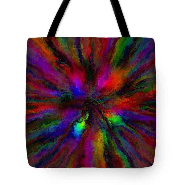Rainbow Grunge Abstract Tote Bag