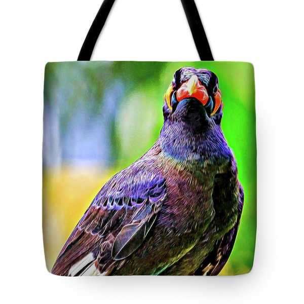 Rainbow Hill Mynah Tote Bag